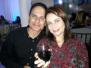 Carlos Mário Salim Mansur e Márcia, jantar Cordeiro e Vinho, Rotary Rainha da Fronteira, clic Fábio Lucas