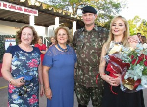 Ana Luisa Badaraco Fagundes, Sirlei Barros, cel. Badaraco e Elen Barros Badaro Fagundes