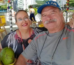 Evelise Bitencourt e Lauro Vidal, na Bahia