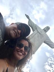 Copacabana, Rio, Geovana Lucas e o pai, Paulo Sergio, no réveillon