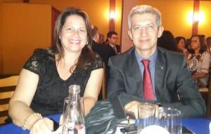 Luciana e Jorge Luis Boemo, na homenagem para Nei Mario Carneiro, clic Fábio Lucas