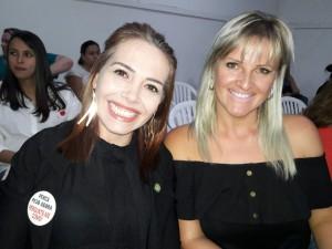 Cleo Moreti, Fernanda Klopenburg, na plateia de Marcele Ceolin, Biblioteca Otávio Santos, clic Fábio Lucas