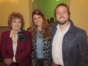 Heloisa Beckman ( personagem Ligia Almeida), Carol Bortolini e George Morgado, nos 60 anos do Museu Dom Diogo de Souza, clic Fábio Lucas
