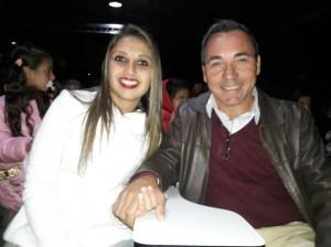 Ronaldo Hoesel e Pâmela, plateia do Musical de Páscoa, clic Fábio Lucas
