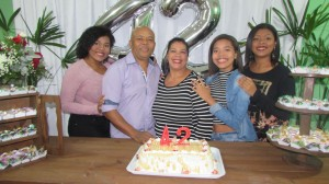 Sargento Neto com Maritza  e as filhas, festa surpresa na casa deles, dia 17, aplausos!