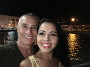 Roberto Hecht e Natália Machado, festa de aniversário a bordo de um barco, festa no convés, na lagoa. em Rio Grande, uau!