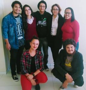 """Alguns dos acadêmicos da Unipampa que organizam o"""" I Seminário Internacional de Violão do Pampa"""","""