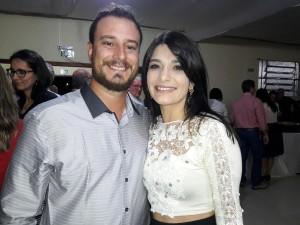 oão Paulo Cesar Zago e Maria Eduarda Mansur, no jantar Cordeiro e Vinho, clic Fábio Lucas