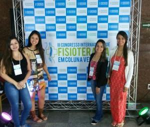 Amanda Dias, Amanda Gonçalves, Dyuliani Brito e Michele Soares, Congresso de Fisioterapia na Bahia