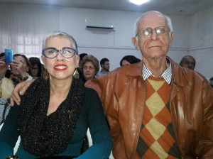 Adriana Rocha e José Botelho, , na palestra do Chico Botelho clic Fábio Lucas
