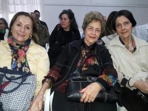 Ecyla Gomes Tavares , Yara Maria Botelho Vieira , Guida Botelho Ustarroz, na palestra do Chico Botelho clic Fábio Lucas