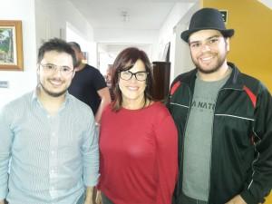 Elaine Bastianello e academicos da Unipampa, , na palestra do Chico Botelho clic Fábio Lucas