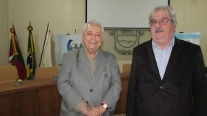 Patrono da ABL, José Carlos Teixeira Giorgis; jornalista Orlando Carlos Brasil, reabertura da ABL, quarta-feira, Salão Nobre da Prefeitura