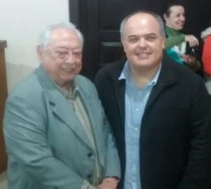 Patrono da ABL, José Carlos Teixeira Giorgis; secretário de Cultura, Fabiano Marimon, quarta-feira, Salão Nobre da Prefeitura