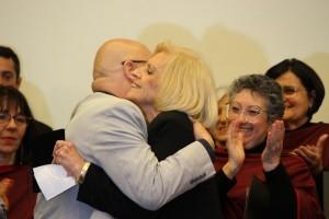 Gilca Nochi Collares, Rubinho Oliveira, homenagem à maestrina pela Famurs, no Plaza São Rafael, POA