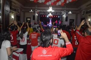 Festa contou com cerca de 500 torcedores
