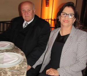 Wilton Budó e Neisa, no Clube Comercial