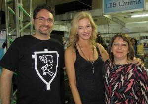 Escritores, Christopher Kastensmidt e Leticia Wierzchowski; jornalista Andrea Gallo