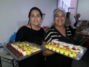 As Maidana de Vargas, Maysa e Maritsa, atelier Delícias da Edu serviu o coquetel da Aciba, sexta-feira, clic Fábio Lucas