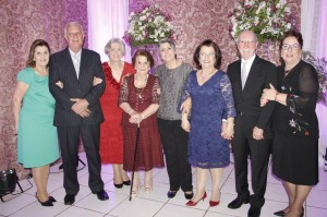 Maria RecyDalponte, Roberto Beviláqua e Maria RenyBeviláqua, RenyGalloFirpo, Ana Maria Firpo, Felícia Del Duca e Laudo Del Duca, Fátima Muller