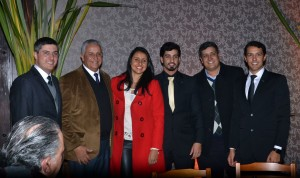 André Machado, Fernando, Luíse, José, Luís Paulo e Luís Felipe Dalé